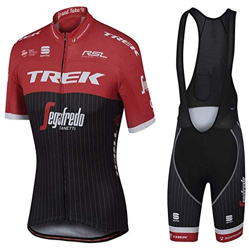 Faukux fietsshirt - Quick-Dry Breath Short Sleeve Bike uniform met 3D-gel pad draagbroek voor professionele fietskleding