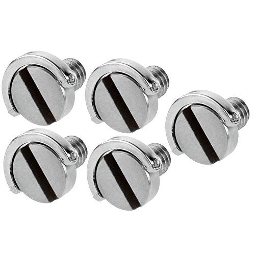 Neewer Edelstahl D Schaft D-Ring 1/4 Zoll Befestigungsschraube 10 mm Schaft 5er PACK