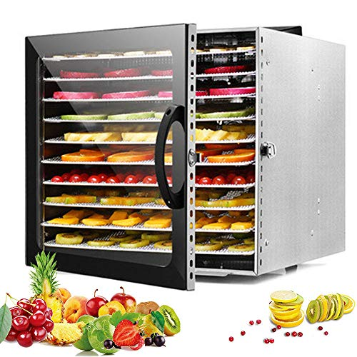 Fantastic Prices! 10 Layers Food Dehydrator, 30-90°C Adjustable Thermostat, 24hr Digital Timer, 360...