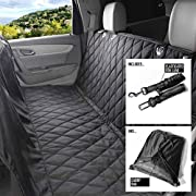 Dog Car Seat Protector Cover, Non-Slip Waterproof Pet Hammock with Seat Belt