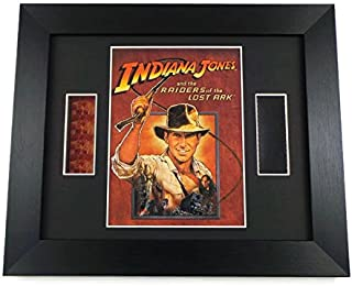 artcandi Indiana Jones Film Cell Framed Art Indiana Jones Raiders of The Lost Ark Original Memorabilia