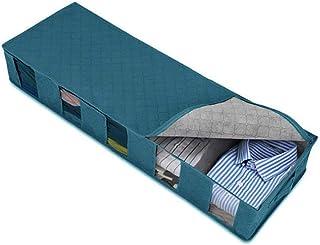 2PCS 5 compartiments pliable en tissu Boîte de rangement Nonwoven Accueil Organisateur Panier Container Case (Bleu) Stocka...