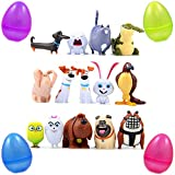 PARK AVE 14 Secret Life of Pets Mini Figures with Jumbo Egg Storage, 1-2' Tall Mini Figure Toys for Kids Cupcake Cake Toppers Party Favor