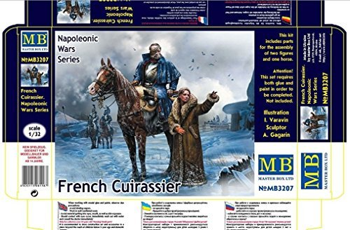 FRENCH CUIRASSIER NAPOLEONIC WARS SERIES 1/32 MASTER BOX 3207 by Masterbox