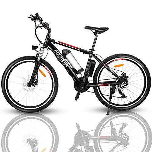 ANCHEER Bicicleta Electrica, Bicicletas Adulto 26 Pulgadas,