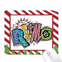 メキシコ文化元素を多くの色・リトモスローガン ゴムクリスマスキャンディマウスパッド