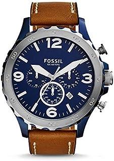 ساعة فوسيل نايت للرجال - انالوج بسوار جلدي - JR1504