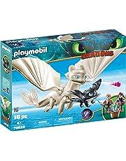 PLAYMOBIL- 70038 DreamWorks Dragons Light Fury med baby Drake och Barn, Flerfärgad