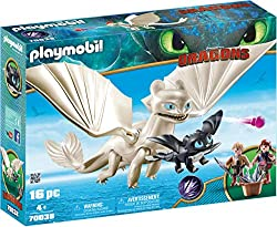 Fun for little adventurers: DreamWorks Dragons Light Fury and Baby Dragon playset by PLAYMOBIL with figures and other accessories for detailed role-play. Note: The wings need to pushed in hard to click into place Light Fury with shooting arrows, Viki...