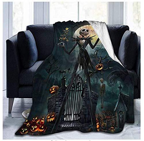 Nightmạre Bou fore Manta de lana ultra suave de microfibra, manta de aire acondicionado, adecuado para cama, sofá, silla, cama de campamento sala de estar, manta de lana merino