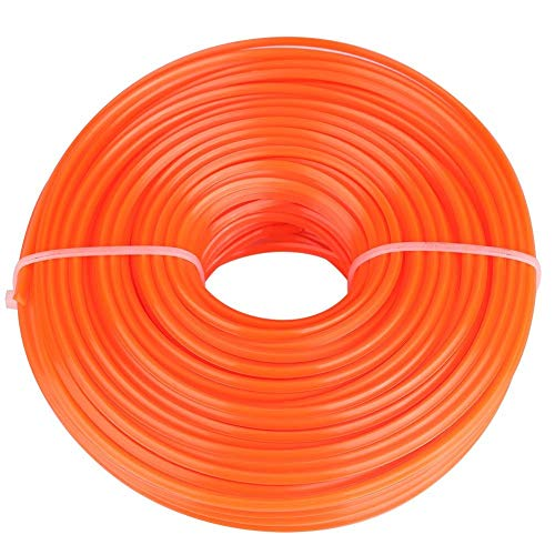 KSTE 50-Meter Line Trimmer Square (diámetro: 3 mm) de Alambre Cuerda de Nylon de Piezas de Repuesto Cortabordes desbrozadora Weed Eater