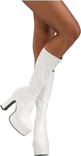 plataforma botas de charol blanco Tamaño 36 - 37