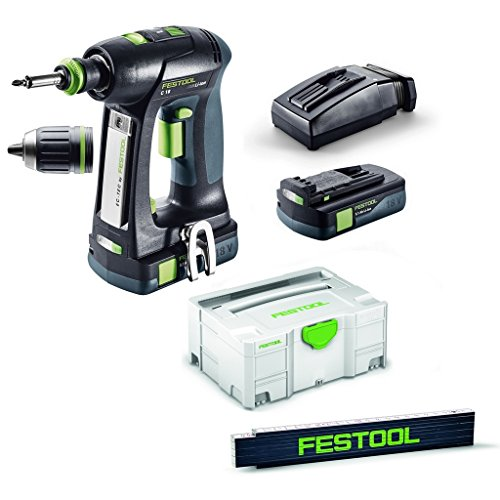 Festool accuboormachine C 18Li 3,1-Compact Systainer 2 T-Loc 574921 meter staaf
