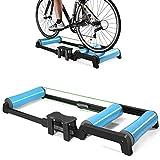 Plataforma plegable cubierta de entrenamiento bicicleta,silencio de la montaña de rodillos de entrenamiento en bicicleta,compatible con las motos que tienen un diámetro de las ruedas de 24-29 pulgadas