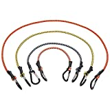 KEEPER 06300 12-Piece Carabiner Bungee Cord Assortment, 18', 24', 36', and 48'