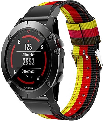 Classicase Compatible con Garmin Instinct/Instinct Solar/Instinct Tactical Correa de Reloj, Pulsera Deportivo de Reloj de Nylon, con Cierre de Clip, Respirable y Reemplazable (Pattern 9)
