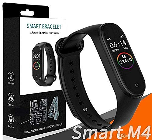 SBA999 VA- 250804 M4 Smart | Health | Band | Immunity/Activity |BP/Heart Rate/Sleep Tracker Stop Watch | for Men/Women/Boys/Girls Messages Alert Android & iOS Mobile Smart Phone