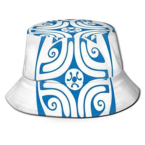 FULIYA Sombrero de cubo de poliéster, inspirado en el verano hawaiano flores botánicas tema acuarela trópicos,Gorra de viaje playa sombrero de sol