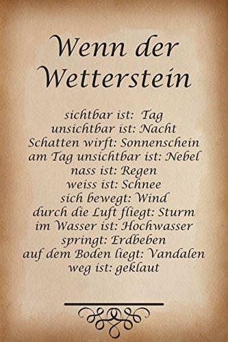 Melis Folienwerkstatt Schild - Wetter-Stein - 45x30cm | 3mm Aluverbund – S00352-008 20 VAR