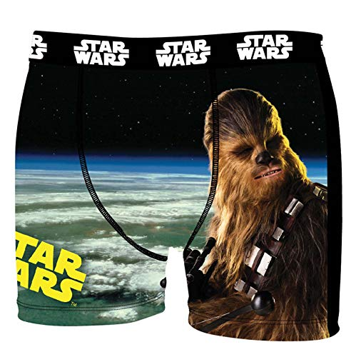 Star Wars Herren Boxershorts, R2D2, Chewbacca, Darth Vader, T-Fighter, Druide BB8 (XL/7/52, Chewbacca)