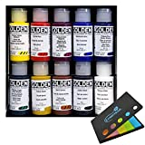 Golden Artist Color Principal 10 Professional Fluid Acrylic Set #905, with Lumintrail Sticky Notes
