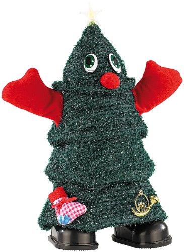 infactory Tanzender Weihnachtsbaum: Singender, laufender Weihnachtsbaum Rocking Xmas Tree, 26 cm (laufender Baum zu Weihnachten)