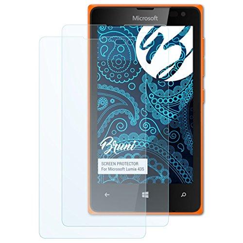 Bruni Schutzfolie kompatibel mit Microsoft Lumia 435 Folie, glasklare Bildschirmschutzfolie (2X)