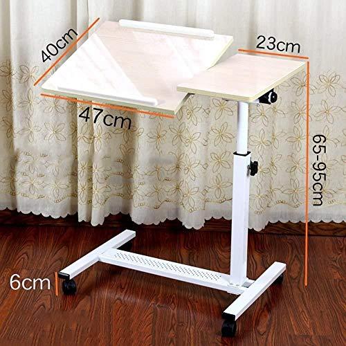 Altura ajustable del ordenador portátil Tabla Sofá cama soporte de mesa escritorio del ordenador portátil con la rueda de A ++ (Color: Nogal, tamaño: Sin ventilador), Tamaño: Con ventilador, Color: Co