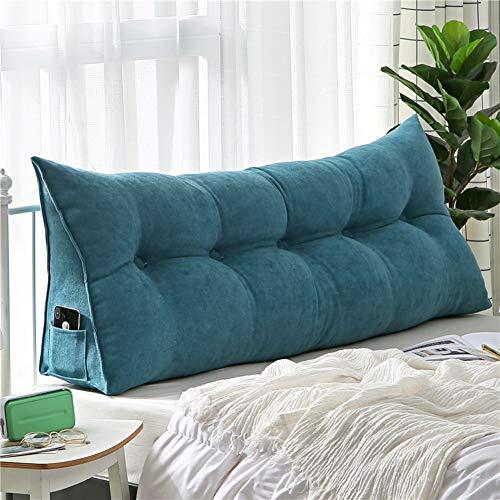 HAOLY Gepolsterter Keil,Sofa Rückenpolster,großes Dreieckiges Kissen,dreieckige Große Keilkissen,rückenlehnenkeil,lesen Kopfkissen-g 120x20x50cm(47x8x20inch)