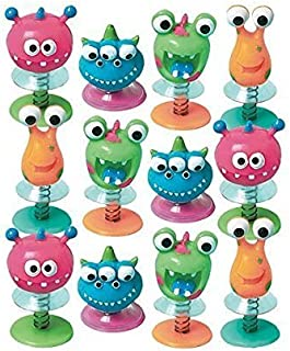 Fun-Filled Birthday Party Monster Creature Pop Up Spring Toy Favour, Plastic (Value-Pack: 36 Count)