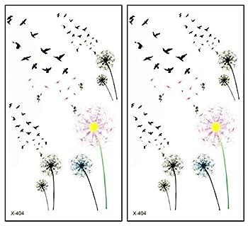 Mini Tattoos 2 Sheets Peace Dove Fly Sunflower Cartoon Stickers Tattoo Temporary Waterproof Design Make up Body Art Tattoos Fake for Man Women Teens  07