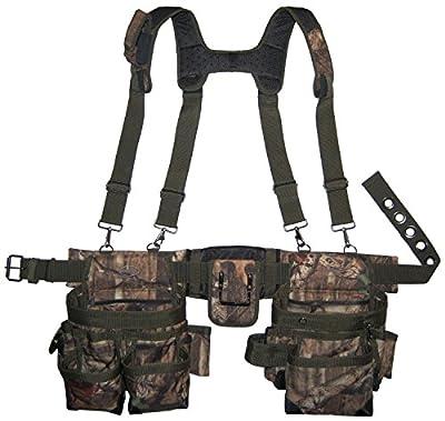 Bucket Boss - Camo Tool Belt with Suspenders, Tool Belts - Original Series (85035) from Bucket Boss