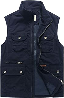 Spring and autumn men's outdoor leisure fishing photography vest large size multi-pocket jacket