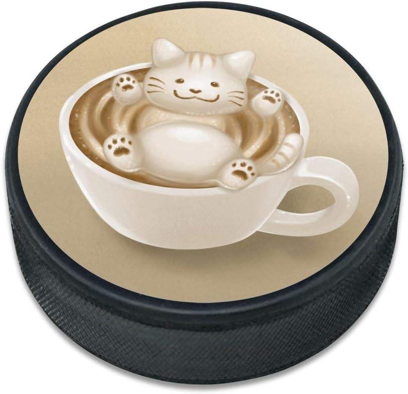 GRAPHICS  MORE Foamy Cat Latte Art Ice Hockey Puck