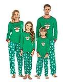 Ekouaer Christmas Holiday Family Sleepwear Pajamas Dad Mom Kid Baby