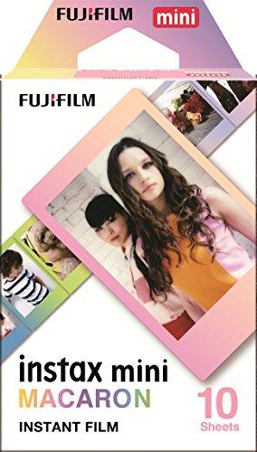 Fujifilm Instax Mini Macaroon - Pack de 10 películas instantáneas, multicolor