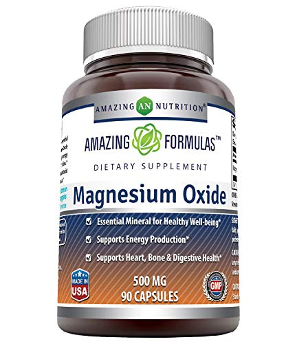 Amazing Nutrition Magnesium Oxide Supplement 500mg, 90 capsules