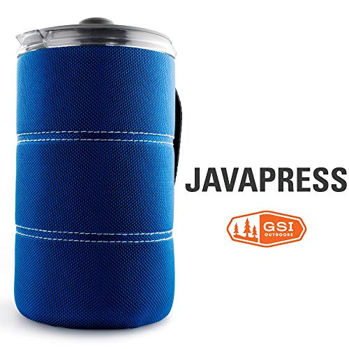 GSI Outdoors - 30 Fl Oz JavaPress, French Press Coffee Mug, Superior Backcountry Cookware Since 1985, Blue