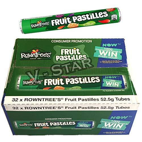 FULL BOX OF ROWNTREE'S FRUIT SWEETS TUBES (FRUIT PASTILLES (32 X 52.5g))