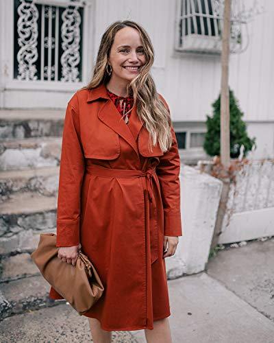 The Drop Women's Cinnamon Open-Front Trench Coat by @graceatwood
