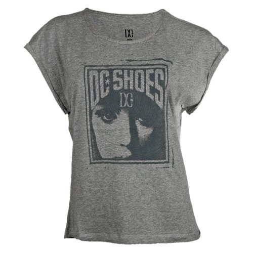 DC Shoes Pangea Printed – Camiseta para Mujer, Mujer, Forest Grey, XS
