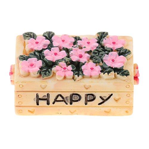 Sharplace Schöne Miniatur Harz Pflanzkasten Blumenkorb für 1:12 Puppenhaus Zimmer Dekoration - Rechteck