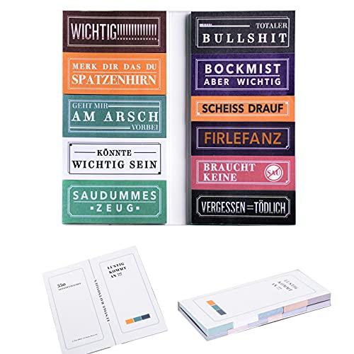 Haftnotizen Lustig 550 Blatt Klebezettel Bunt für Studenten als Büro Gadgets zum Markieren und Geschenk Idee
