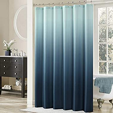 DS BATH Ombre Shower Curtain,Popular Shower Curtain,Mildew Resistant Fabric Shower Curtains for Bathroom,Contemporary Bathroom Curtains,Print Waterproof Polyester Shower Curtain,62  W x 72  H