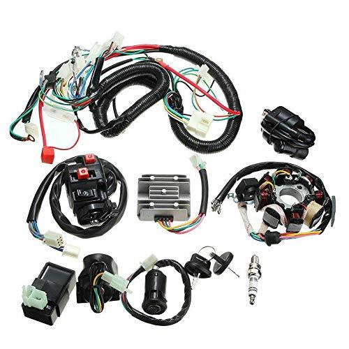 XIAOZHOU ZHOUBENXIANG Cableado eléctrico Cable de Alambre de Alambre CDI Estator Kit Completo Ajuste for 150cc 200cc 250cc ATV Quad Beach ATV Cableado Arnés Accesorios for automóviles