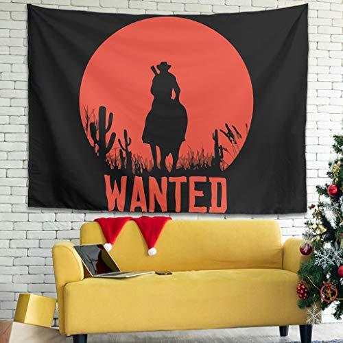 None Brand Redemption Red Dead Theme Elegance Tapisseriedekor - RDR Cowboy Bettlaken für Schlafzimmer Dekor White 100x150cm