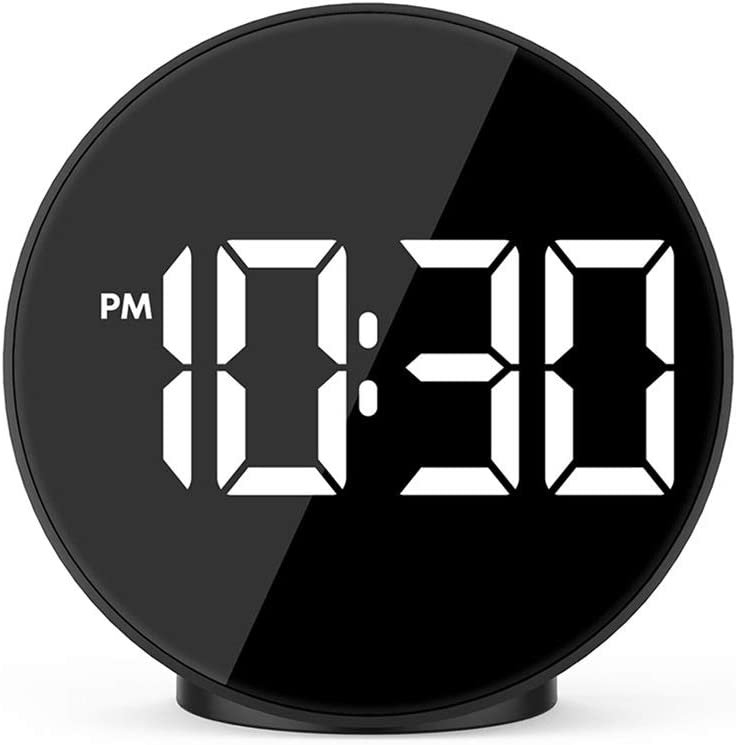 ZLBYB Digital Alarm Clock LED Max 61% OFF 5 popular Voice Night Electroni Mode Control