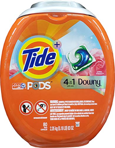Tide Pods with Laundry Pacs, Downy, 83 Ounce, 80 Count