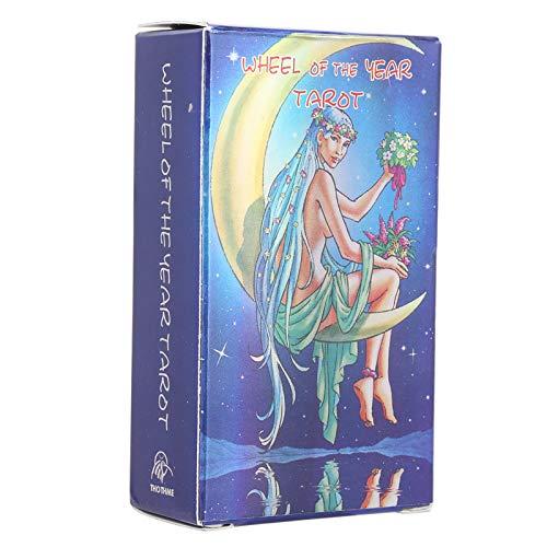 hong Baraja de Cartas de Tarot, 78 Cartas de Tarot, Juego de Cartas de Tarot para el Futuro, Juego de Cartas de Tarot de Viaje, Regalo para Tus Seres Queridos o para ti Mismo