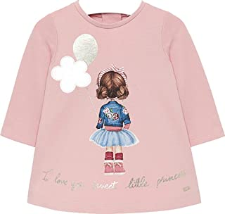 Makeup Mayoral 2820 Embroidered Tulle Dress for Baby-Girls